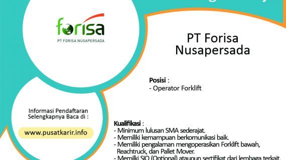 Lowongan Kerja Terbaru PT Forisa Nusapersada