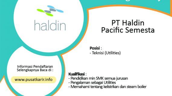 Lowongan Kerja PT Haldin Pacific Semesta