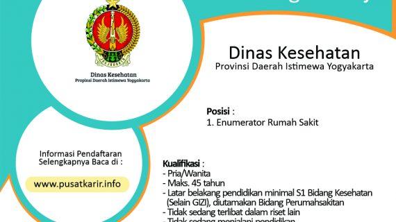 Rekruitmen Enumerator Riset Fasilitas Kesehatan (Rifaskes) Provinsi DIY