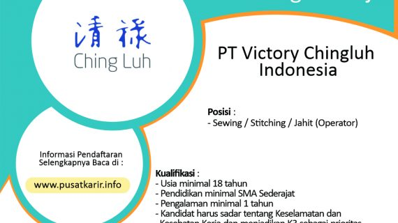Lowongan Kerja PT Victory Chingluh Indonesia Tangerang