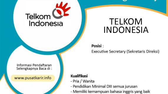 Lowongan Kerja PT Telekomunikasi Indonesia (Persero) Tbk.