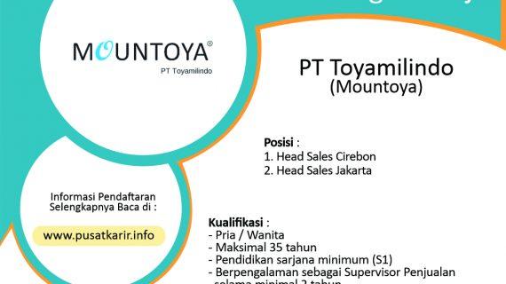 Lowongan Kerja PT Toyamilindo (Mountoya) Cirebon