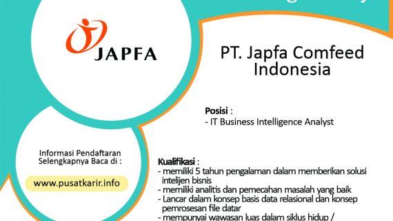 Lowongan PT. Japfa Comfeed Indonesia,Tbk