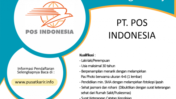 Lowongan Kerja PT POS Indonesia (Persero) Samarinda