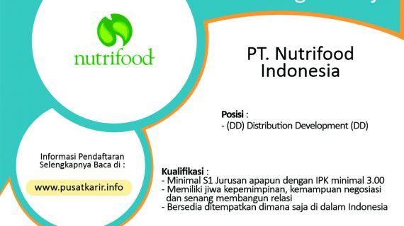 Lowongan PT Nutrifood indonesia