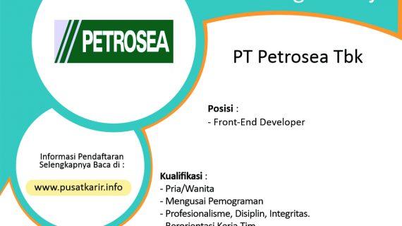 Lowongan Kerja PT Petrosea Tbk (Indika Energy Group) 2020