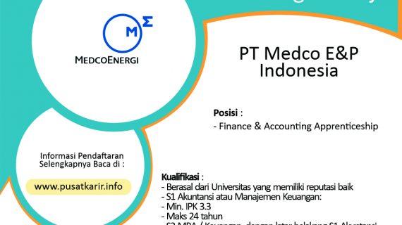 Lowongan Kerja PT Medco E&P Indonesia