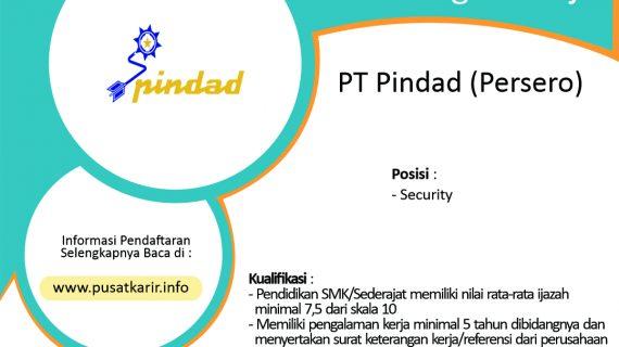 Lowongan Kerja PT Pindad (Persero) 2020
