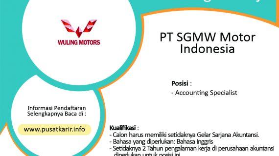 Lowongan Kerja PT SGMW Motor Indonesia 2020