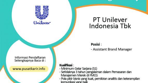 Lowongan Kerja PT Unilever Indonesia Tbk 2020