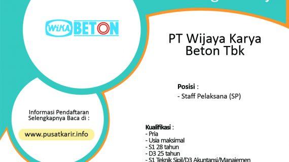 Lowongan Kerja PT Wijaya Karya Beton Tbk 2020.