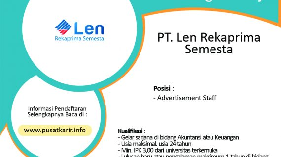 Lowongan Kerja Terbaru Corporate Planning PT. Len Rekaprima Semesta 2020