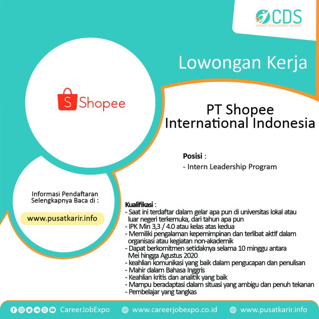 Lowongan Kerja Terbaru Intern Leadership Program PT Shopee ...