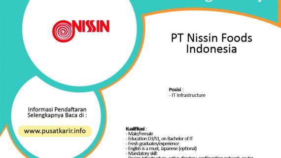 Lowongan Kerja PT Nissin Foods Indonesia Terbaru