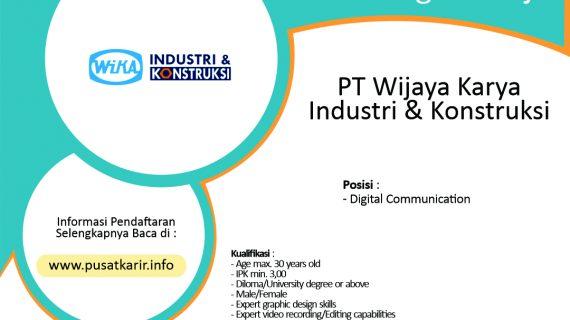 Lowongan Kerja PT Wijaya Karya Industri & Konstruksi (2020)