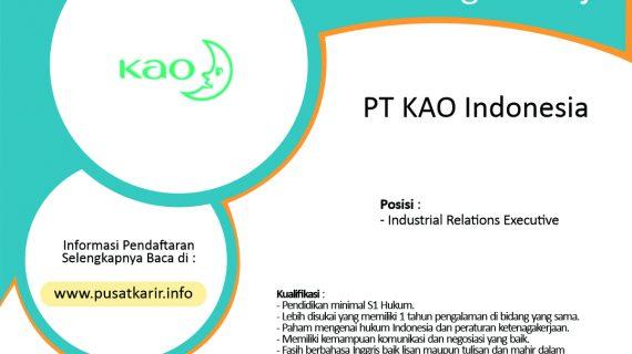 Lowongan Kerja PT KAO Indonesia (2020)