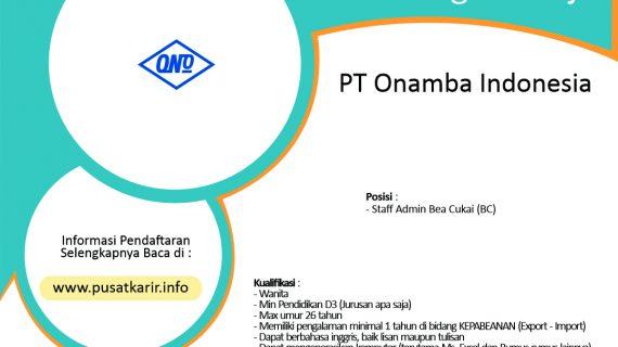 Lowongan Kerja PT Onamba Indonesia KIIC Karawang