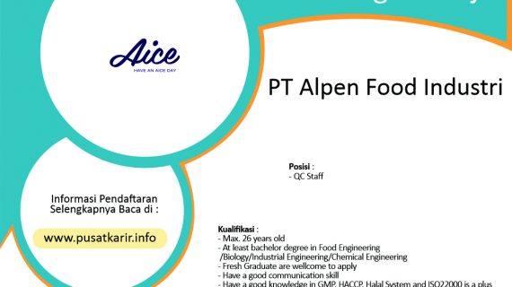 Lowongan Kerja PT Alpen Food Industri (2020)