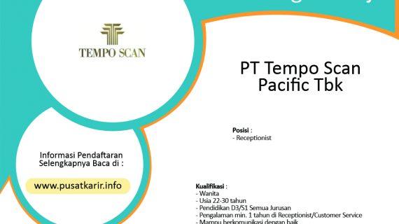 Lowongan Kerja PT Tempo Scan Pacific Tbk (2020)