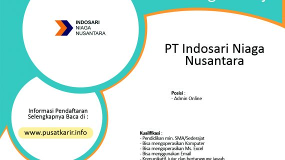 Lowongan Kerja PT Indosari Niaga Nusantara (2020)